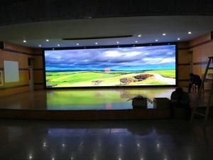滁州学院室内全彩舞台背景显示屏
